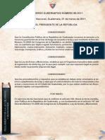 Reglamento Ley Armas y Municiones Acdo 85-2011