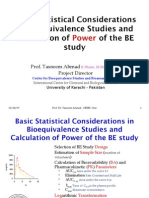 Sample Size and Power Analysis in Bioequivalence Studies