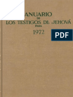 Anuario de los testigos de Jehová- 1972