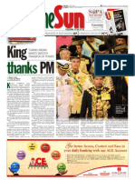 Thesun 2009-02-17 Page01 King Thanks PM