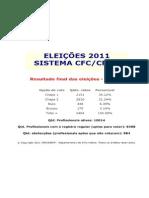 RESULTADO ELEICOES CRCPA 2011