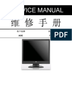 AOC 712S5 LCD Monitor Service Manual