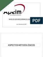 PERU - NIVELES SOCIOECONOMICOS 2007-2008