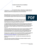 2012 Corps of Cadets Promotion Process Guidelines