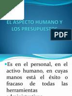 EL ASPECTO HUMANO Y LOS PRESUPUESTOS.pptx