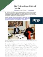 Machtkampf Im Vatikan