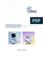GXV 3000 Series Videophone Quick Install Guide