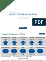 Investors PPT Q3FY13_Final