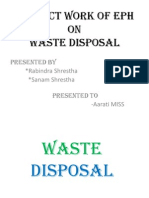 PROJECT WORK OF EPH ON WASTE DISPOSAL.pptx
