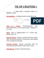 Thermodynamics, Basic Outline of Chapter 1