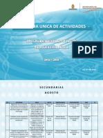 Agenda Unica 2012 Secundarias