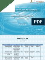 Agenda Unica 2012 Preescolar