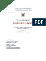 Programa Sociologia de La Cultura