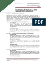 ESPECIFICACIONES TÉCNICAS DE INST. ELECTRICAS VI BRIGADA