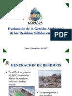Evaluacion de La Gestion Ambiental