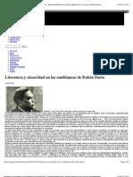 Literatura y sinceridad en las semblanzas de Rubén Darío