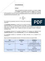 Tipos de propiedades termodinámicas
