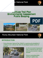 Scoping newsletter for multiuse trail in Rocky Mountain NP