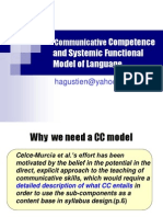Communicative Competence and Systemic Functional Model of Language