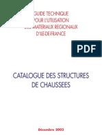 Guide Technique Dimensionnement Des Routes en Ile de France
