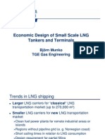 Economic Design of Small Scale LNG Tankers and Terminals