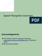 Speech Recognition Grammars