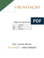 AULAS DE NATAÇÃO