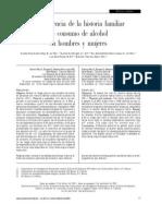 La Influencia de La Historia Familia de Consumo de Alcohol