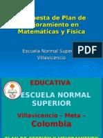 Propuesta Plan PGMA de Matemáticas y Ciencias Naturales E.N.S 2009 OFFC 03