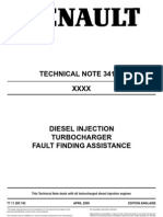 Renault technical note 3419A Turbocharger diagnosis