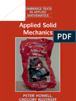 Applied Solid Mechanics () - Peter Howell