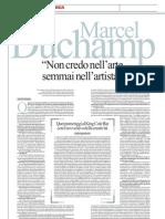 Gli Stralci Di Un'Intervista Inedita a Marcel Duchamp Del 1964 - La Repubblica 17.02.2013