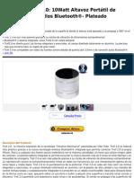 Vibe-Tribe Troll 2.0  10Watt Altavoz Portátil de Resonancia, sin hilos Bluetooth®- Plateado