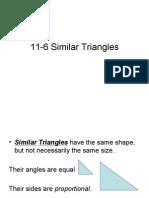 11-6 Similar Triangles
