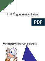11-7 Trigonometric Ratios