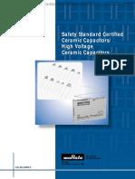 Murata Safety Standard Certified Ceramic Capacitors / High Voltage Ceramic Capacitors