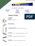 Acorn Catalogue-Fastener