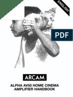 Arcam-AV50Amp User Manual
