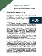 Situatia Sectorului de Legume Si Fructe Din Romania