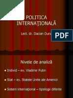 POLITICA INTERNAŢIONALĂ