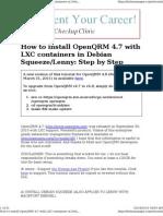 Step-by-Step OpenQRM with LXC in Debian /Ubuntu