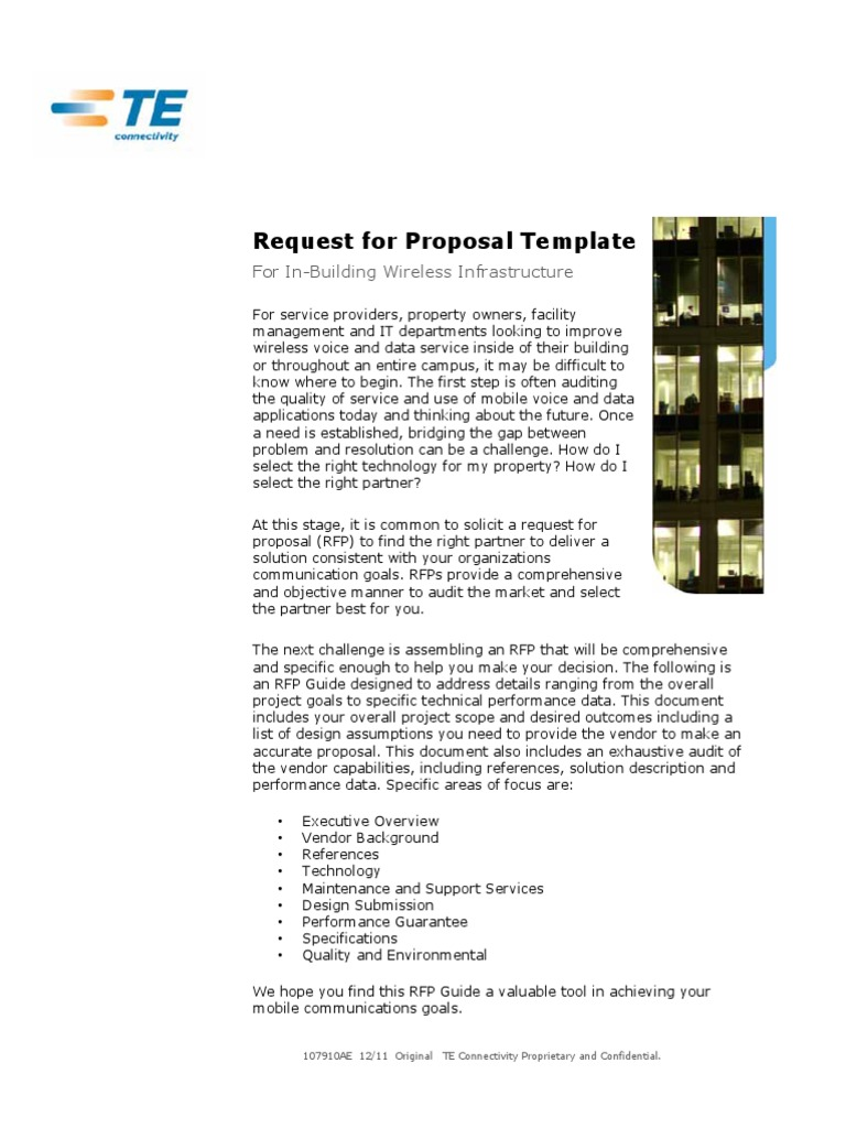 request for proposal template 107910ae request for proposal
