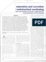 Saturasi Oksigen & Sekresi Berat Setelah ETT Suction