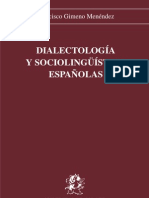Francisco Gimeno Menéndez - Dialectología y sociolingüística. Universidad de Alicante-1990