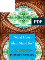 What Does Islam Stand For