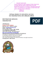 Antique Dealers & Antique Restorers Washington and Oregon
