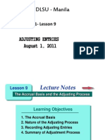 ACTBAS1 - Lesson 9A (Adjusting Entries)