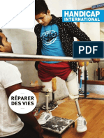 "Brochure Générale "" We repair lives"" de Handicap International"
