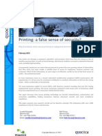 Printing - A False Sense of Security?