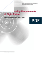 Balance Quality Requirements of Rigid Rotors- The Practical Application of ISO 1940-1